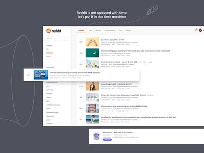 Reddit Redesign - Freebie mobile print illustration animation iphone android branding kit design icon app template free freebie mockup website flat web clean ui