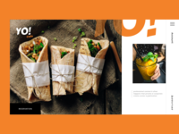 Yo Cafe Homepage Concept - Freebie