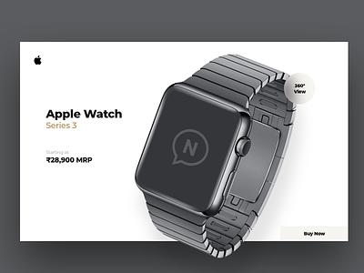 Apple Watch Website Concept kit minimal vector typography animation branding design psd ios illustration app template free freebie mockup website flat web clean ui