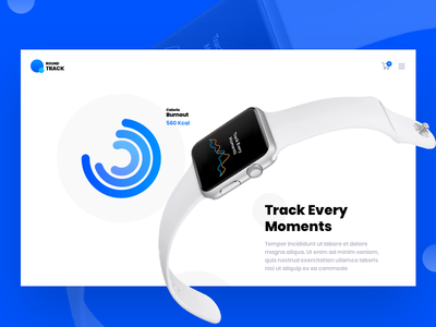Round Track Website Concept logo animation iphone free freebie white watch apple ux icon ios illustration app template mockup website flat web clean ui