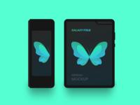 Freebie - Galaxy Fold Minimal Mockup