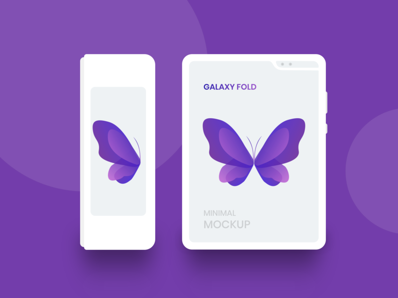 Freebie - Galaxy Fold White Minimal Mockup design template free freebie clean minimal white flat ios android mobile phone mockup galaxy samsung figma psd invision studio xd sketch