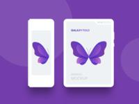 Freebie - Galaxy Fold White Minimal Mockup