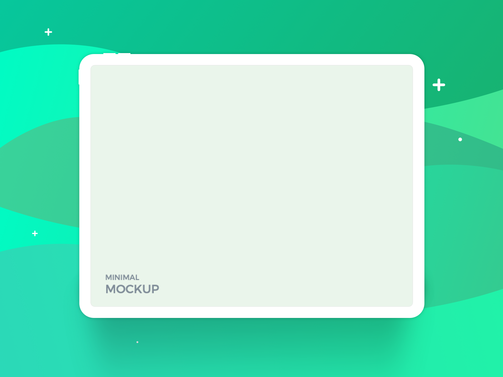 Ipad Pro Minimal Mockup Freebie By Amir Vhora On Dribbble