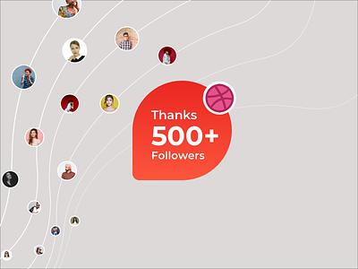 500 Followers Milestone! 🚀 animation kit icon branding psd ios design app free website freebie mockup flat web clean ui