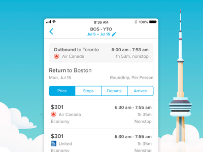 Outbound Flight Header flight app ux-ui product mobile travel uidesign header design airline