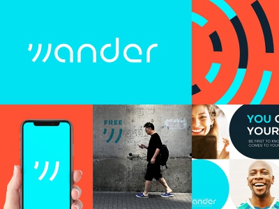 Wander   Visual Identity wifi pattern visual identity typography design logo branding identity graphic  design