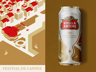 Stella Artois Beer Can Design   Limited Edition cannes beer can design beer label packaging illustration visual identity typography design logo branding identity graphic  design