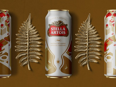 Stella Artois Beer Can Design   Limited Edition cannes designs beer can beer packaging illustration visual identity typography design logo branding identity graphic  design