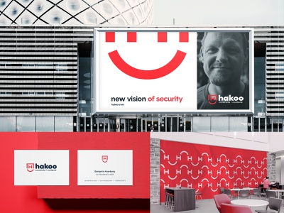 Hakoo   Visual Identity outdoor advertising security logo business card design crypto blockchain illustration visual identity typography design logo branding identity graphic  design