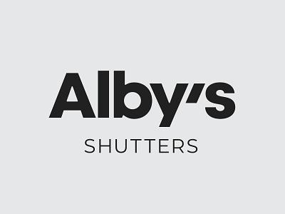 Alby's   Visual Identity shutters packaging visual identity typography design logo branding identity graphic  design