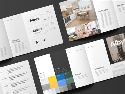 Alby's   Visual Identity guidelines shutters packaging illustration visual identity typography design logo branding identity graphic  design
