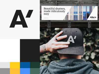 Alby's   Visual Identity shutters visual identity typography design logo branding identity graphic  design