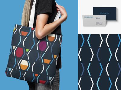 BeverageX   Visual Identity businesscard seamless pattern pattern art pattern illustration visual identity typography design logo branding identity graphic  design