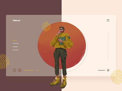 Takur / Personal Portfolio Exploration illustrator web ux website branding flat design illustration minimal ui
