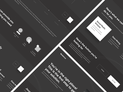 Banient.co icon flat website branding typography ux web ui minimal design