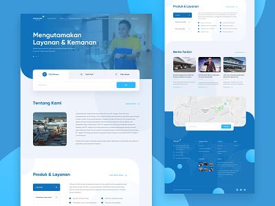 Angkasapura Kargo Redesign uiux userexperience userinterface flat minimal design website ux branding web ui