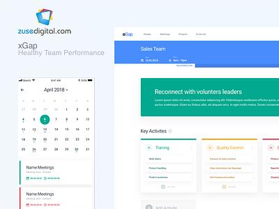 xGap SaaS Meeting Dashboard App app design meeting dashboard ui saas landing page dashboard mobile app web design web app saas