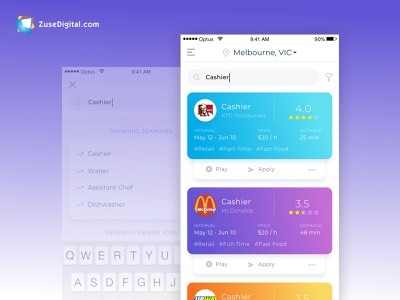 Giggers - Gig economy job marketplace app uid interface search bar gig economy marketplace job app design app