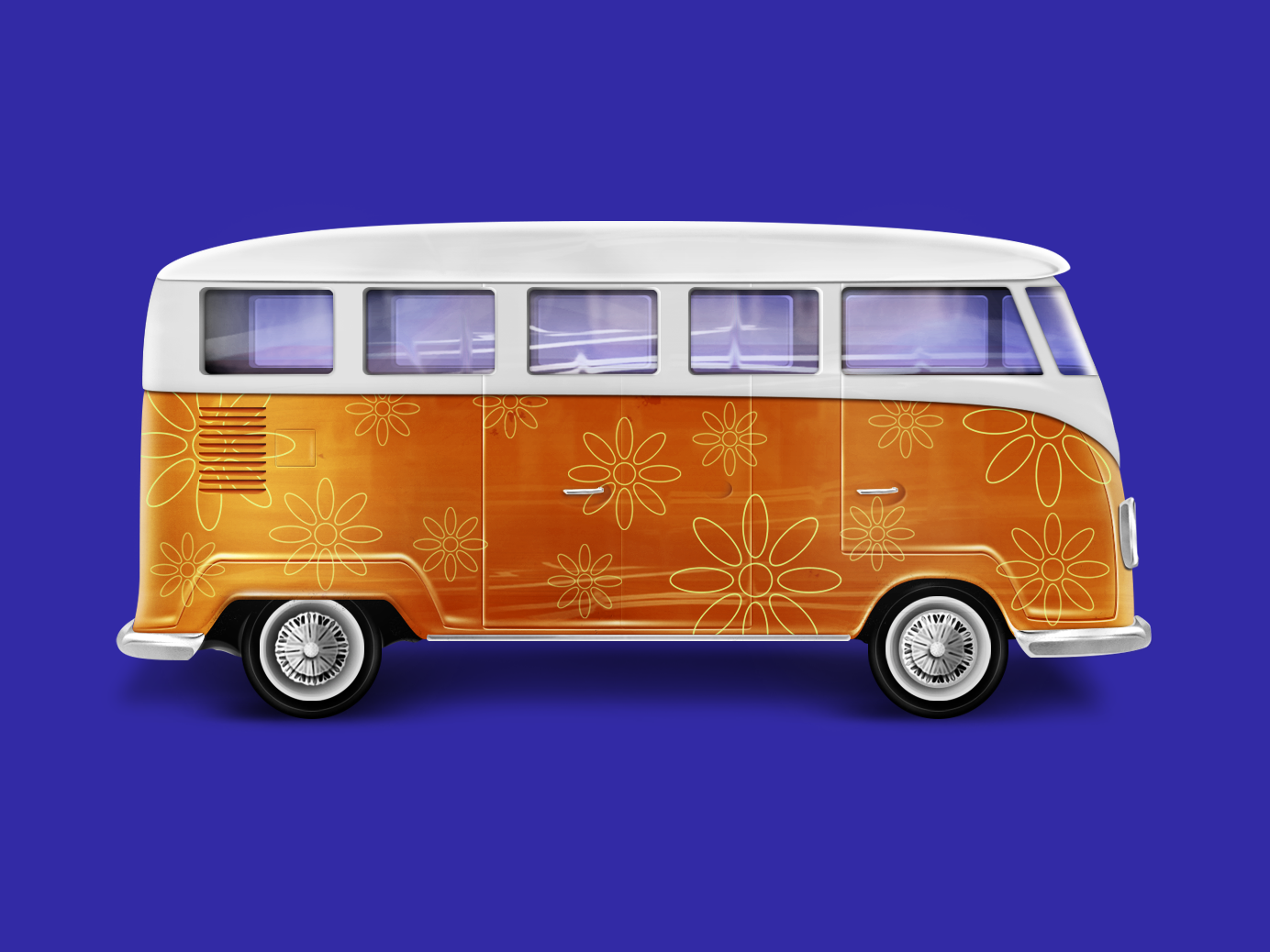 VW Bus illustration 3d illustration 3d photoshop