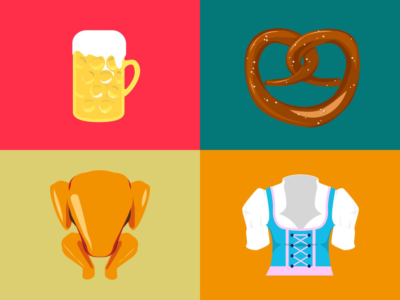 Wiesn Illustrations animation video illustration vector
