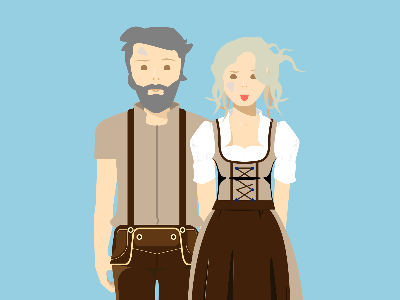 Wiesn Illustrations animation video vector illustration