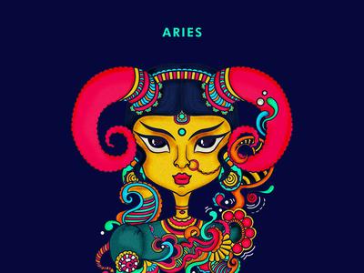Aries, Zodiac illustration