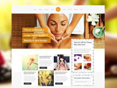 Beauty Saloon & Spa Webpage Design beauty spa saloon makeup facial website design ui ux spa shop creative portfolio homepage