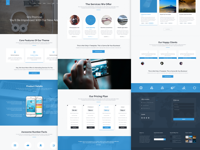 Business & Beauty Design beauty business corporate theme themeforest ui