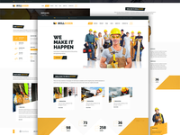 Construction Homepage Design