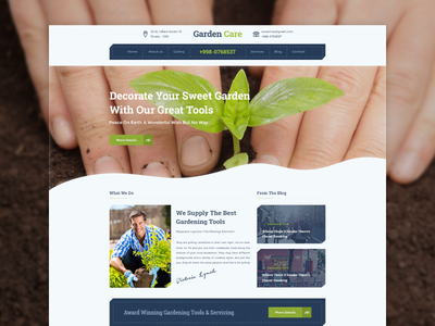 Homepage Design   Garden Care Gardening Website