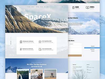 SpaceX Website Design 2017 trend design trends creative template wordpress theme multipurpose template spacex