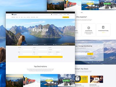 Expedia Website Redesign travel theme travel website flight booking air booking expedia travel booking