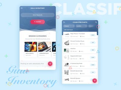 Gulu Inventory - Classified App Design gulu inventory classified mobile apps classified listing inventory app mobile app classified app