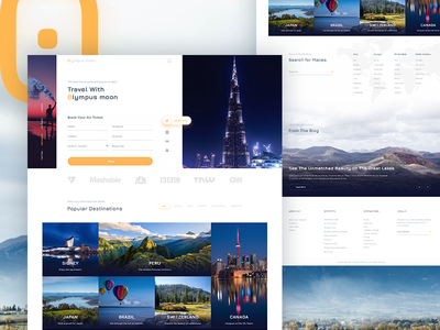 Travel Booking Design travel design traveller listing travel website air ticket flight booking travel booking