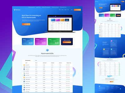 Cryptocurrency Ico Homepage Design cryptocurrency homepage blockchain landing page etherium eth oyster btc bitcoin cryptocurrency blockchain ico