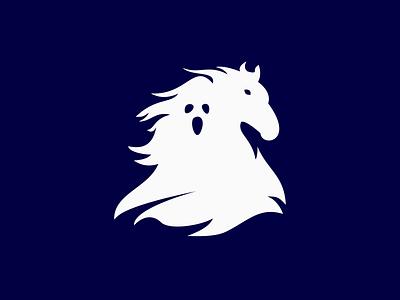 Ghost horse ghost horse logo logo design logo design icon