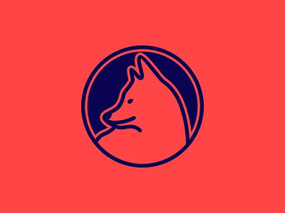 Lone Wolf dog logo vector flat moon wolf wolf logo logo design branding logo design icon