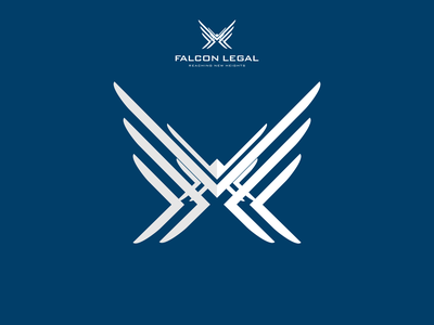 Falcon Legal vector logo branding flat logo design design icon legal falcon logo falcon