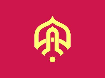 Mosque wifi logo design flat mosque widget wifi internet wireless wifi logo branding design icon logo
