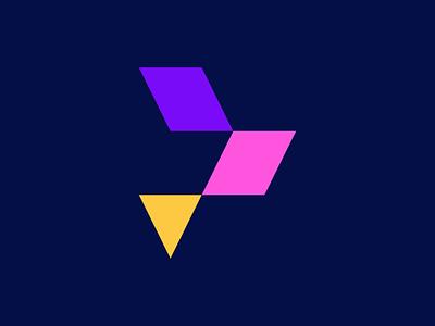 Colorful letter P vector logo design colorful latter mark latter logo p flat branding design icon logo