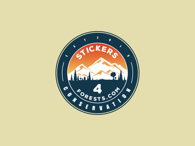 Stickers Forests foresh conservations stickers for imessage stickers forests flat vector logo branding design icon logo design