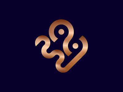 Abstract 2020 (latter mark) gold 2020 trends 2020 design 2020 latter mark latter logo logo design branding vector flat design icon logo