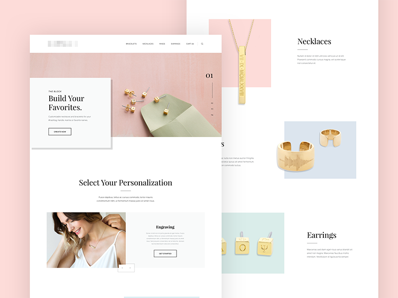 Jewelry Store Concept accpl photography jewelry type layout shop store ecommerce web website