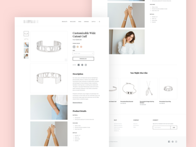 Jewelry Store Concept - Product Page