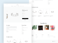 Jewelry website product design