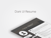 Dark UI resume