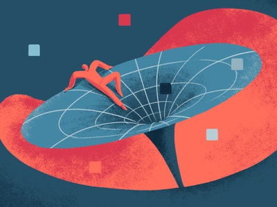For an article about internet decentralisation #2 space vortex web editorial illustration illustration