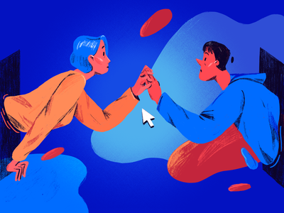 Finding love on the Internet blog dating editorial character illustration adobe photoshop editorial illustration