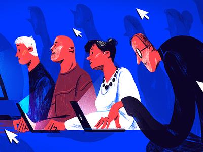 Blogging blog editorial illustration editorial illustration